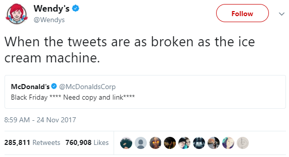 When the tweets are as broken as the ice cream machine.